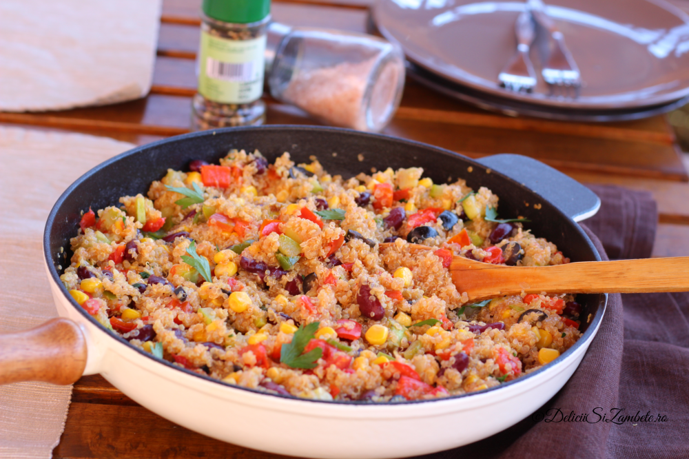 Quinoa in stil mexican