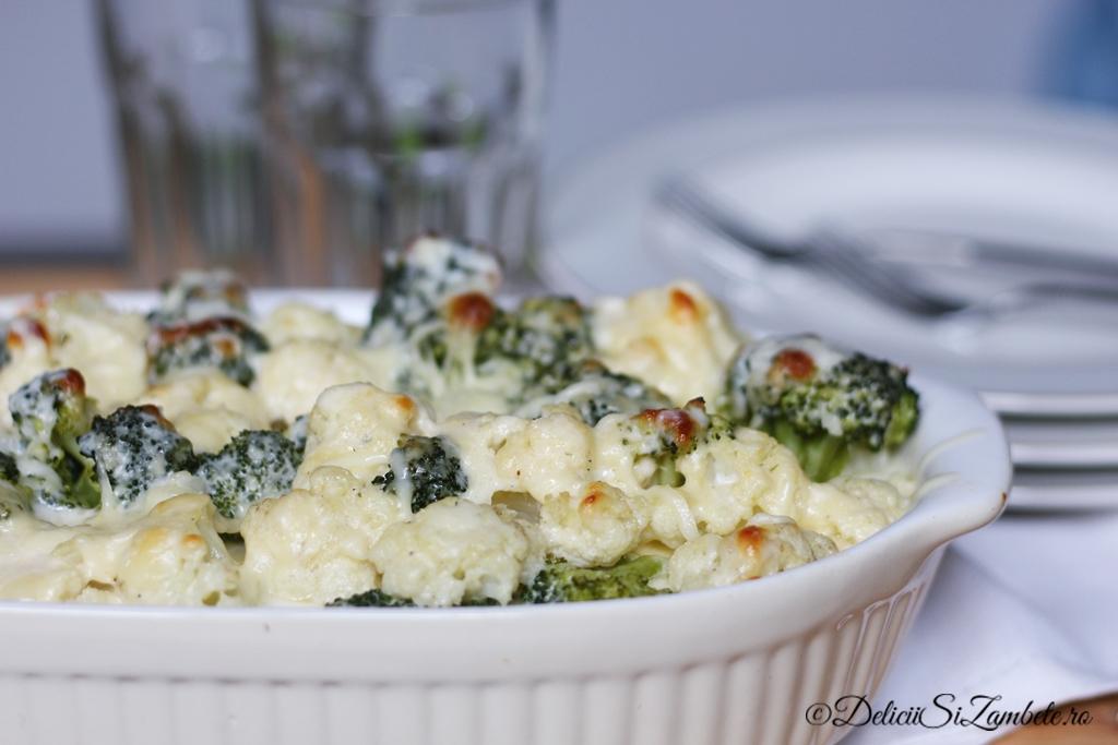 Conopida si broccoli in sos de mozzarella la cuptor