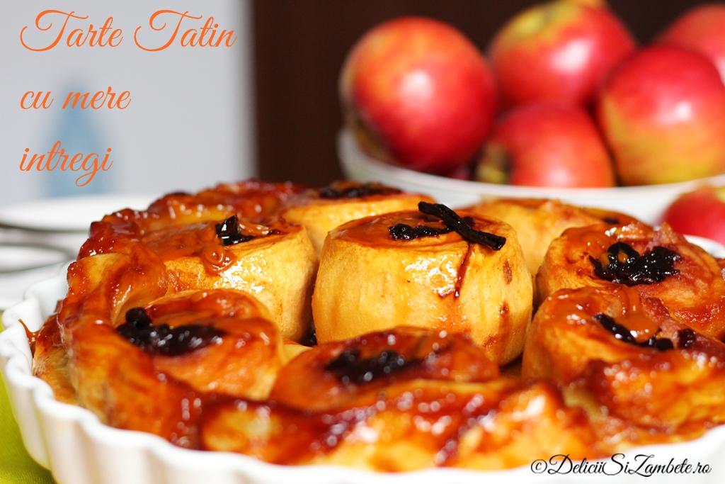 Tarte tatin – cu mere intregi si dulceata de cirese negre
