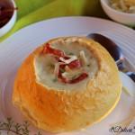 Supa crema de usturoi copt