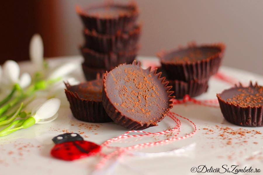 Bomboane vegane de ciocolata
