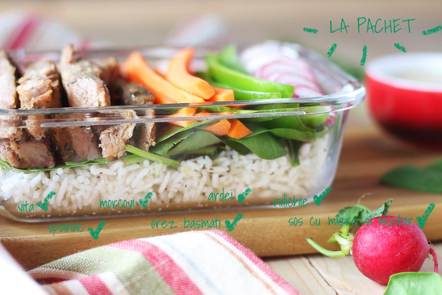 Masa la pachet - Vita cu legume si orez basmati