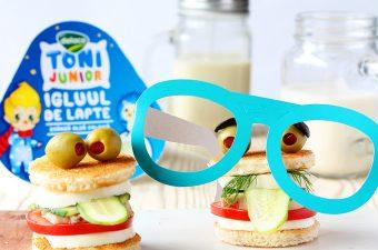 Sandwich pentru copii cu branza proaspata