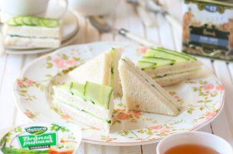 Mini sandwichuri cu castravete